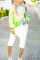 FashionStreet Spiral Print Colorful Sweater