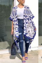 Fashion Casual New Arrival Chiffon Bule Shawl