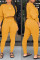 Fashion Casual Yellow Solid Two Pieces