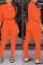 Fashion Casual Orange Solid Two Pieces