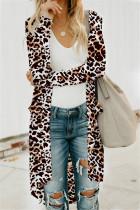 Fashion Casual Long-Sleeved Leopard Cardigan Jacket
