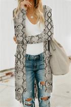Fashion Casual Long-Sleeved Snake Cardigan Jacket
