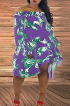 Sexy Fashion Nightclub Word Collar Tube Top Purple Dress