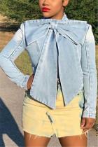 Fashion Casual Denim Blue Long Sleeve Jacket