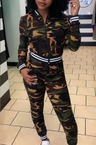 Fashion Casual Camouflage Long Sleeve Sports Suit