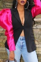 Fashion Personality Stitching Black Jacket