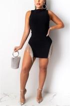 Fashion Sexy White Tassel Dress