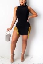 Fashion Sexy Gold Tassel Dress