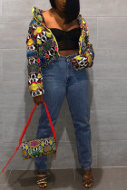 Fashion Bright Multicolor Printed Cotton Padded Jacket(Only Jacket)
