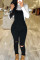 Fashion Casual Black Denim Sling Pants