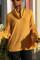 Fashion Long Sleeve Earth Yellow Turtleneck Top