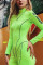 Fashion Sports Fitness Green Long Sleeve Romper