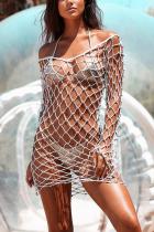 Sexy Fashion Suspender White Blouse