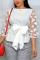 Fashion Sexy Stitching White Shirt Top
