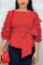 Fashion Sexy Stitching Red Shirt Top