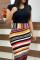 Fashion Sexy Stitching Iridescent Color Dress