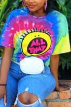 Fashion Casual Printed Colorful Short Sleeve T-shirt