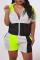 Fashion Casual Stitching Black Sports Set