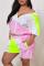 Fashion Casual Stitching Pink Sports Set