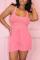 Sexy Fashion Pink Vest Shorts Two-piece Set