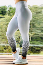 Fashion Sports Printed White Skinny Trousers