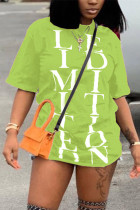 Fashion Casual Printed Fruit Green Short-sleeved T-shirt Top