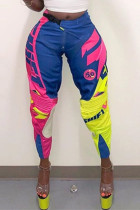 Fashion Casual Printed Colorful Sports Trousers
