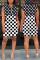 Fashion Polka Dot Print Black White Hooded Dress