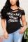 Fashion Casual Printed Black Short-sleeved T-shirt