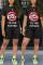 Fashion Casual Lips Print T-shirt Black Shorts Set