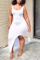 Sexy Fashion Tight White Sleeveless Dress