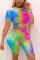 Fashion Casual Printed T-shirt Shorts Colorful Set