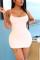 Sexy Fashion Tight White Suspender Dress