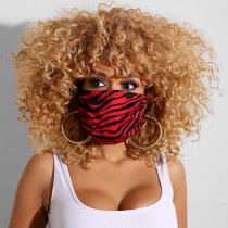 Black Red Casual Basic Dustproof Face Protection
