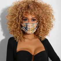 Plaid Print Casual Basic Dustproof Face Protection