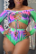 Green  Two Piece Suits Gradient Fashion Sexy adult Ma'am Swimwears