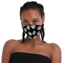 White Yellow Fashion Casual Print Face Protection