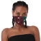 Green Red Fashion Casual Print Face Protection
