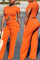 Orange Fashion Sexy Short Sleeve O Neck Regular Sleeve Regular Solid Two Pieces