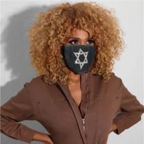 Hexagonal Star Fashion Casual Print Face Protection
