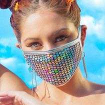 White Fashion Casual Print Face Protection
