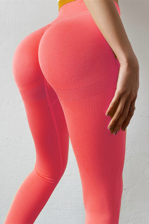 Red Fashion Sexy Sportswear Skinny Solid Trousers