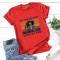 Red Fashion Casual Daily O Neck Short Sleeve Regular Sleeve Regular Letter Character Tops