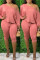 Pink Fashion Casual Sportswear Long Sleeve Oblique Collar Regular Sleeve Regular Solid Two Pieces