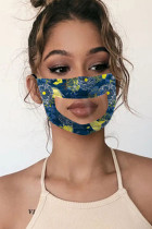 Tibetan Blue Fashion Sweet Cute Mixed Printing Face Protection
