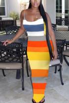 Multi Fashion Sexy Daily Spaghetti Strap Sleeveless Spaghetti Strap Sling Dress Ankle Length Mixed Printing Dresses