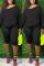 Black Fashion Casual Sportswear Long Sleeve Oblique Collar Regular Sleeve Regular Solid Two Pieces