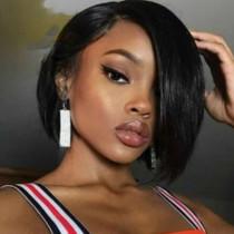 Black Fashion Sweet Elegant Solid Wigs Accessories