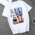 White Fashion Casual Daily O Neck Short Sleeve Regular Sleeve Regular Letter Character Tops