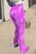 Purple Fashion Casual Daily Skinny Tie Dye Trousers